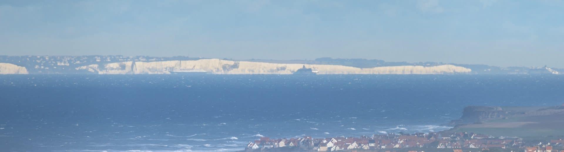Vue sur les côtes anglaises ©Fabien Coisy