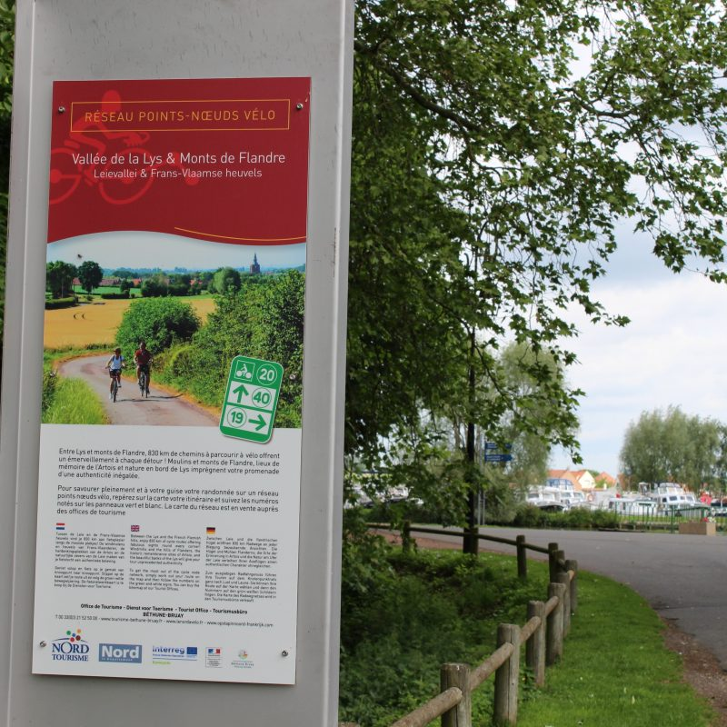 Image 2)Le réseau Points-Nœuds Vallée de la Lys & Monts de Flandre